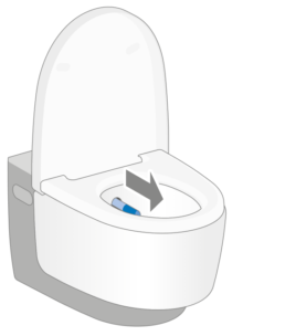 Geberit AquaClean shower toilet - 2. Start showering - Touchfree Toilet