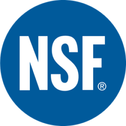 NSF International logo - Touchfree Toilet