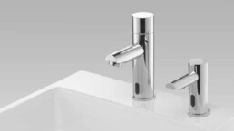 Touchfree faucet and soap dispenser - Hand washing - Touchfree toilet